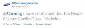 Samsung tweet ns gorilla glass 500x164