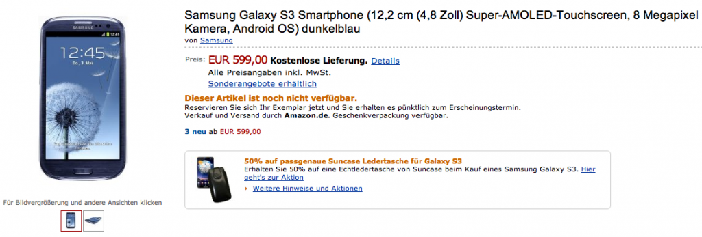 amazon.de samsung galaxy s 3