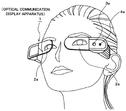 sony-optical-communication-glasses-patent