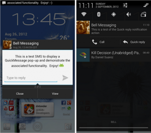 Cyanogenmod quick message quick reply