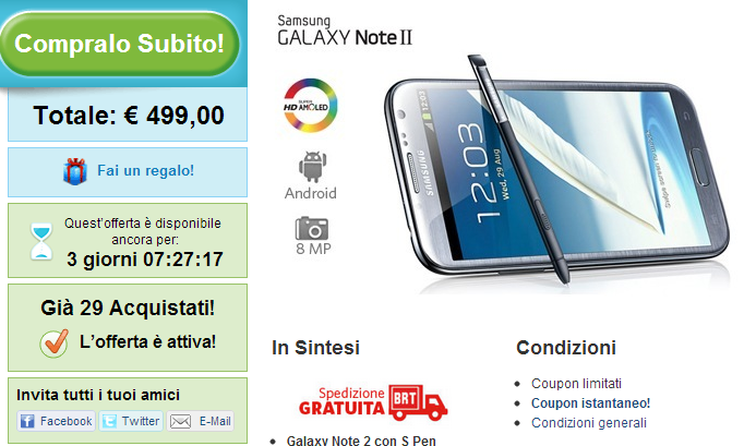 galaxy note 2 groupon