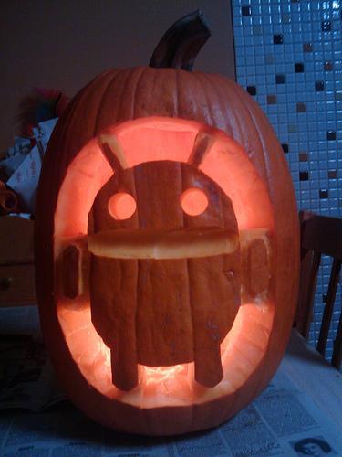 google-android-pumpkin-face