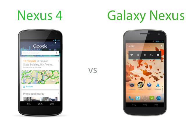 nexus 4 vs galaxy nexus