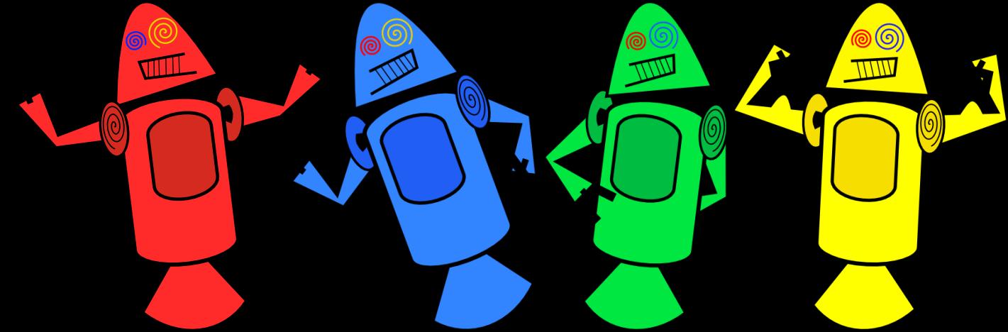Le prime mascotte di Android
