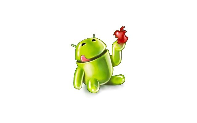 android-eat-apple