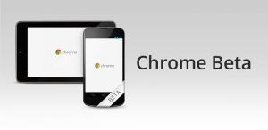 Chrome beta aggiornamento
