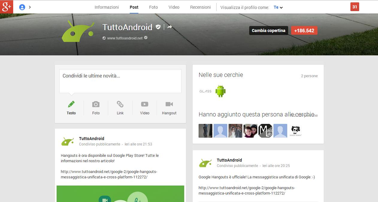google+ tuttoandroid