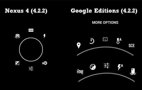 App Fotocamera Android 4.2 - 4.3 Galaxy S4 HTC One Google Edition