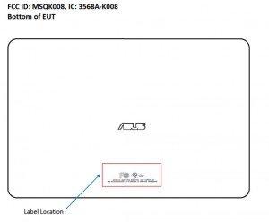 Asus K009 FCC label
