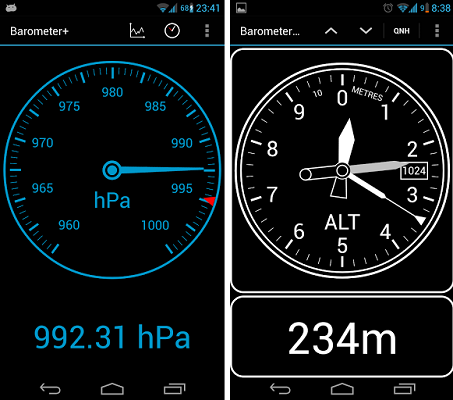 Barometer Altimeter DashClock - Barometro Android