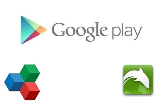 Play Store - Office Suite - Dolphin Browser