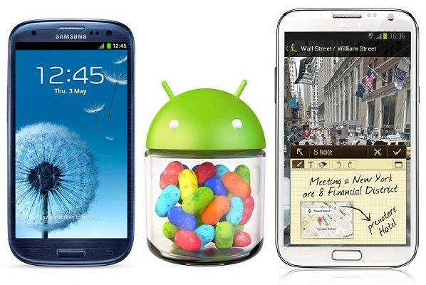 Samsung Galaxy S3 - Galaxy Note 2 - Android 4.2.2 Jelly Bean