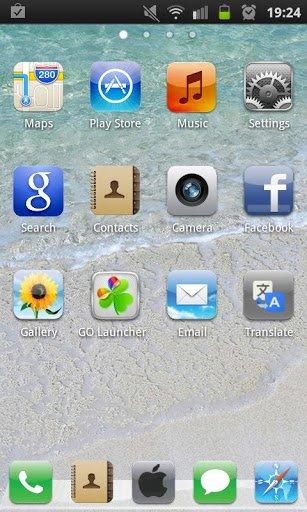 Tema iPhone 5 Go Launcher EX (2)