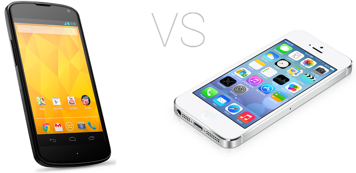 android 4.2 vs ios 7