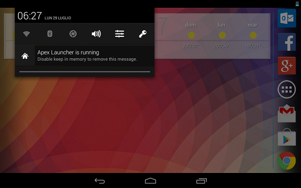 Android 4.3 Persistent Notifications - Notifiche Persistenti