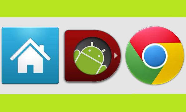 Apex Launcher - WidgetLocker - Chrome - Android 4.3
