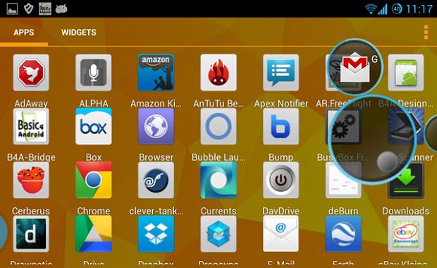 Bubble Launcher, le app sempre a portata di bolle!