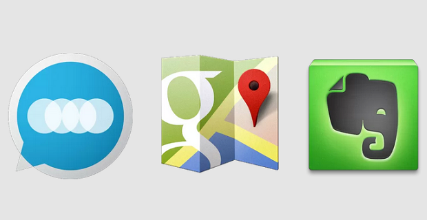 Google Maps - Floating Notifications - Evernote