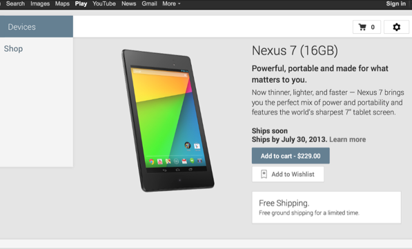 Nuovo Nexus 7 Prezzo