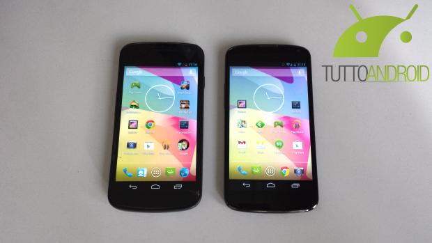 galaxy nexus vs nexus 4 android 4.3