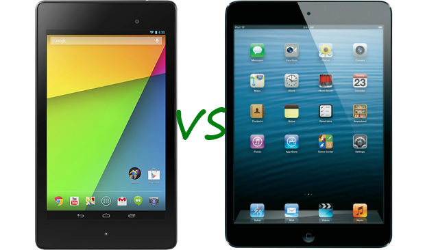 nuovo nexus 7 vs ipad mini