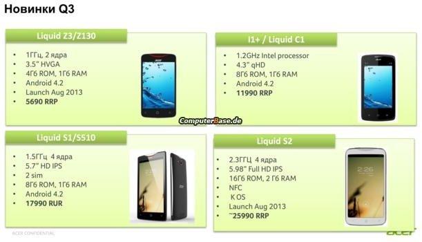 Acerl Liquid S2 Snapdragon 800