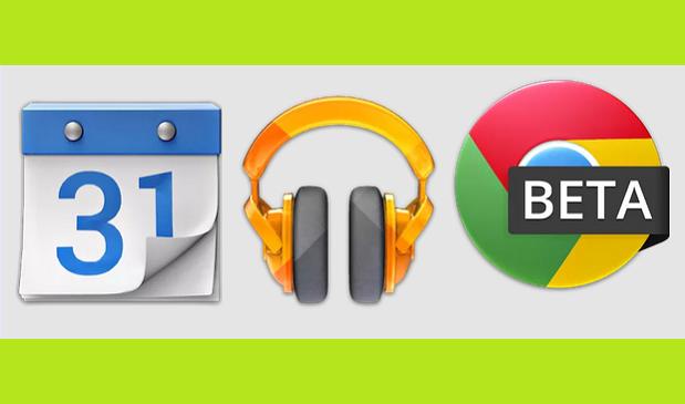 Google Calendar e Play Music e Chrome Beta