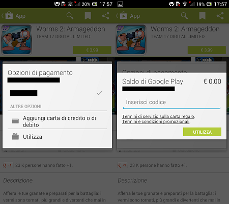 Google Play Gift Card Itala Play Store Android