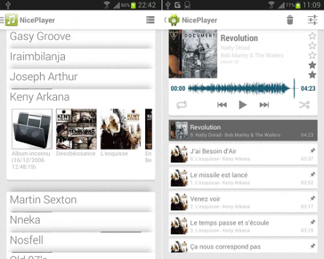 NicePlayer un player musicale con interfaccia in stile Google Now