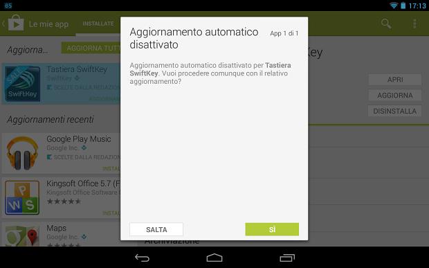 Play Store Aggiornamenti App