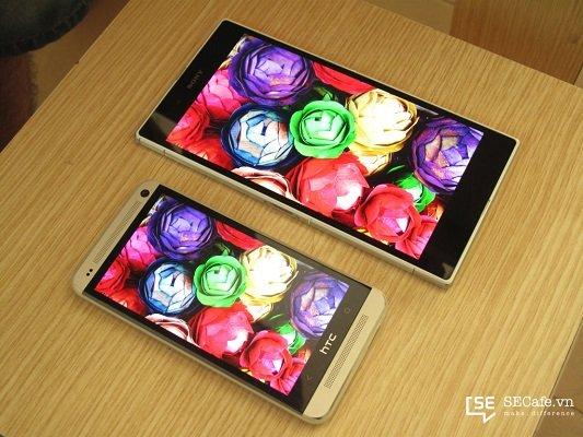 Sony Xperia Z Ultra vs HTC One display a confronto