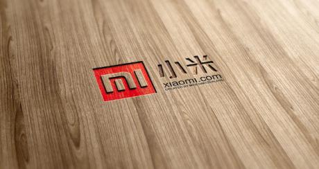 Xiaomi logo wood