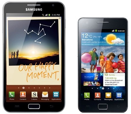 Galaxy S2 Galaxy Note