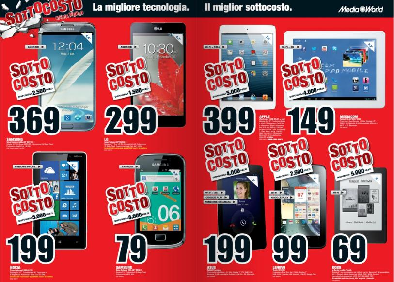 Galaxy Note 2 Optimus G E Altro In Offerta Da Mediaworld