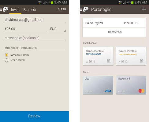PayPal 5.0 Android