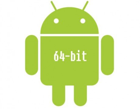 Android logo with 64 bits