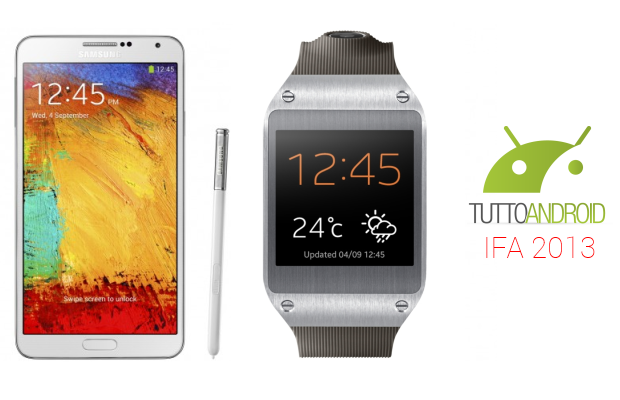 samsung galaxy note 3 galaxy gear ifa 2013