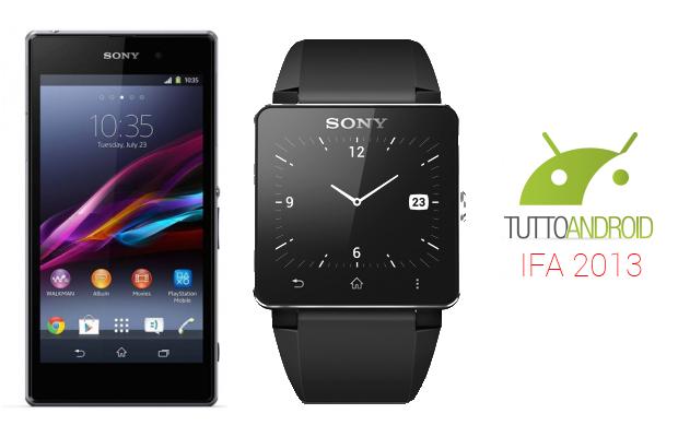 sony xperia z1 smartwatch 2 ifa 2013