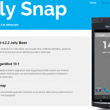 Jelly Snap Android 4.2 Xperia Arc S