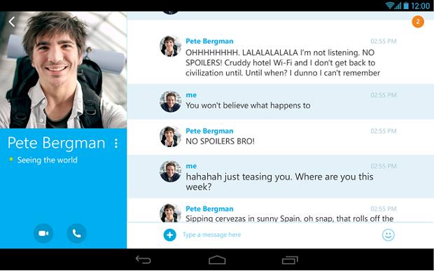 Skype 4.4 Android