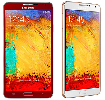 galaxy note 3 red and white gold