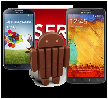Android 4.4 Galaxy S4 Galaxy Note 3 SFR e1387396630847