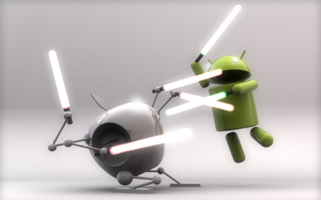 Android vs iOS lightsabers