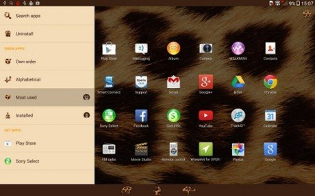 Xperia Themes Android 4.3