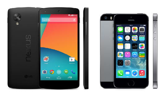 nexus-5-vs-iphone-5s
