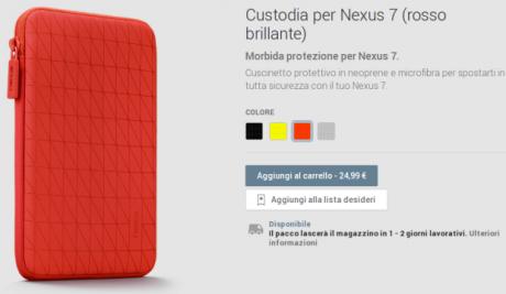 Nexus 7 custodia rosso brillante