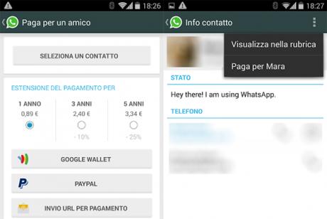 Whatsapp paga per