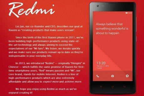 Xiaomi Hongmi Redmi