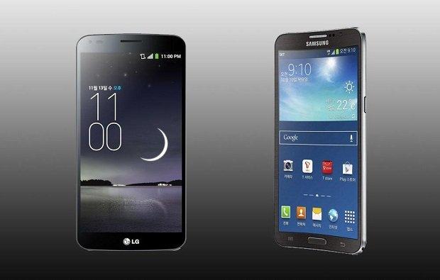 LG G Flex 2 and Samsung Galaxy Round 2