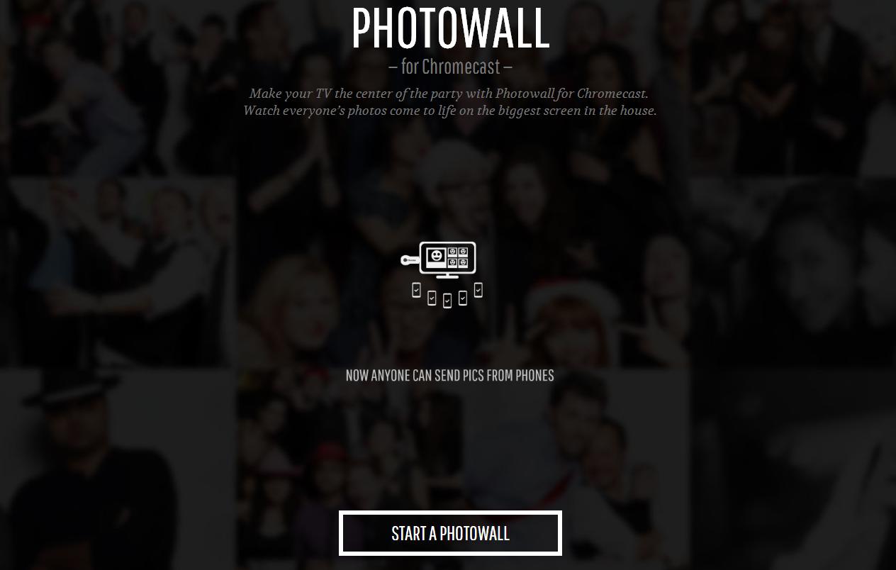 photo wall for chromecast